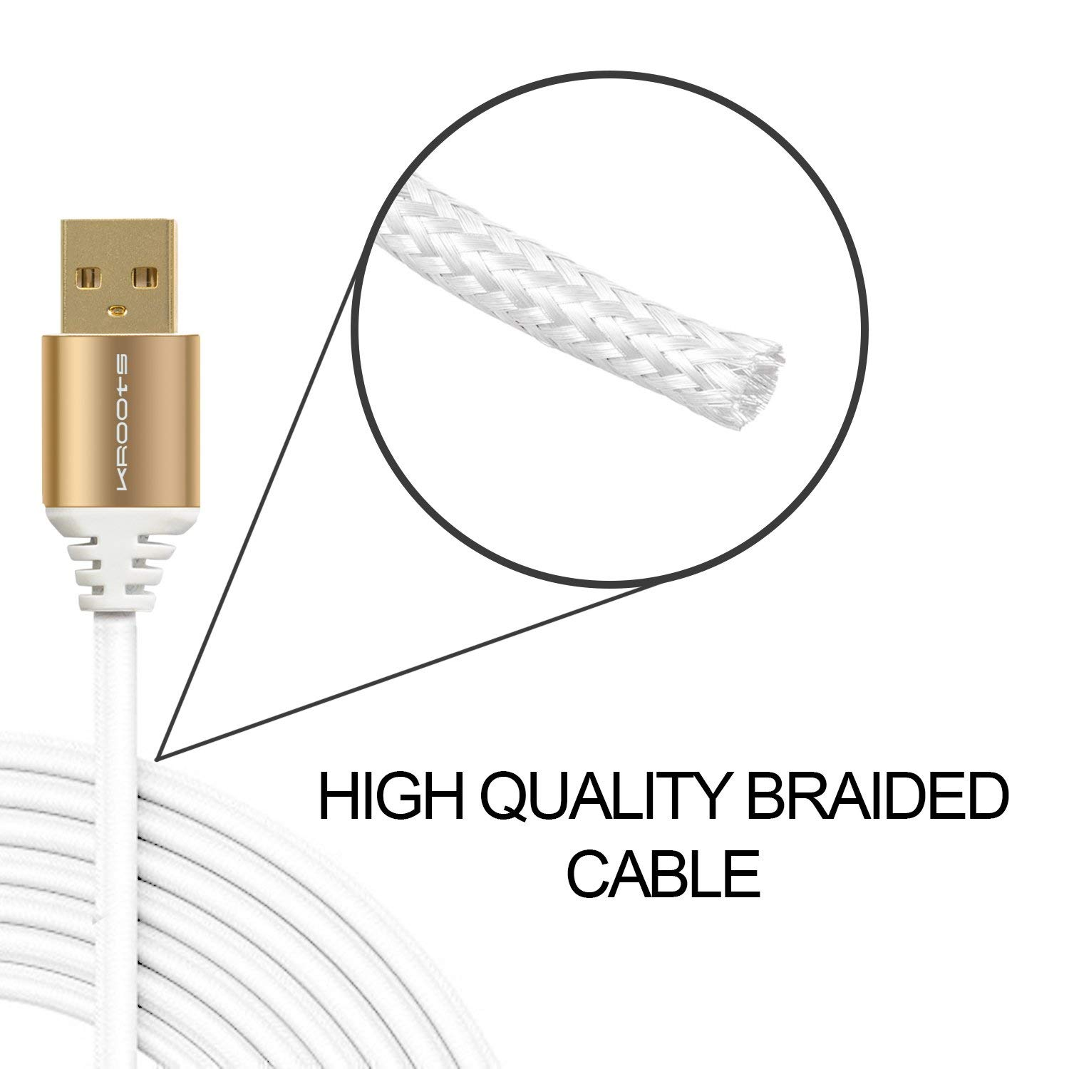 Kroots Sync And Charging Cable For Apple Iphone Ipad