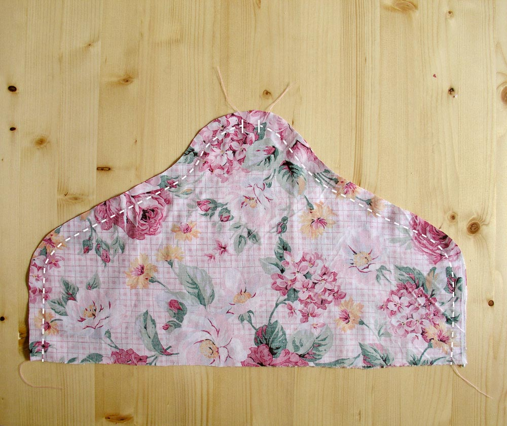 Sew the two pieces of printed cotton