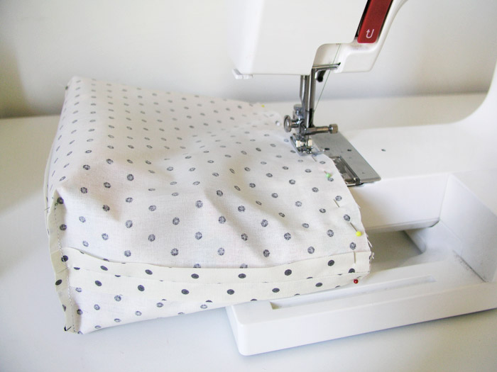 Sew across the top of the basket |  Betsy Sewing
