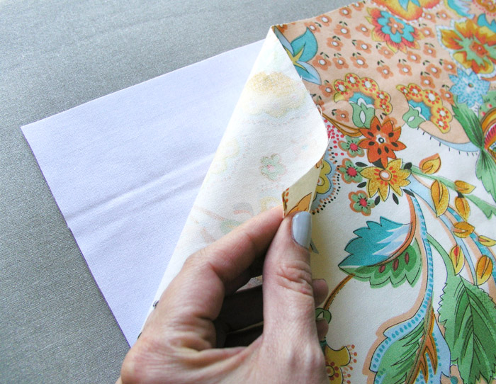 Apply heat-adhesive interfacing to outer fabric of fabric basket |  Betsy Sewing