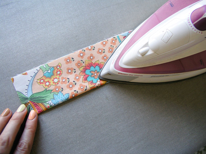 Iron each handle in half |  Betsy Sewing