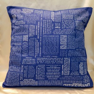 blue atheist quotes throw pillow