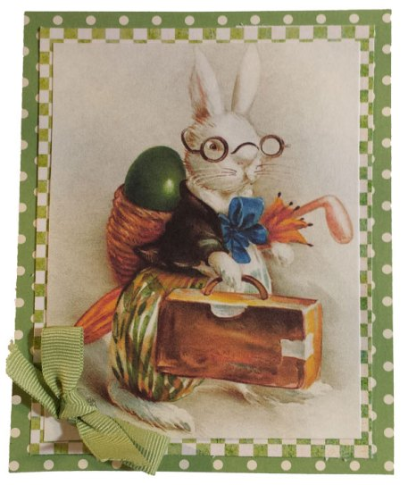 Easter Bunny handcrafted card by Paper Calliope