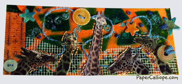 Giraffe Mixed Media Art by Betsy Skagen