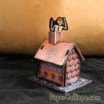 Glittery haunted houses