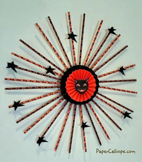 Paper-Calliope-straw-wreath-orange-and-black-2