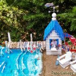 Summer at the shore–an altered art miniature beach scene with bait and snack shack