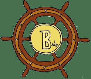 Betsy Yaros Ship Steering Wheel