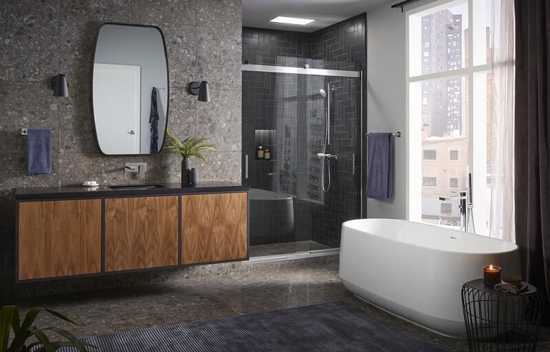 learn how kohler parallel bathroom