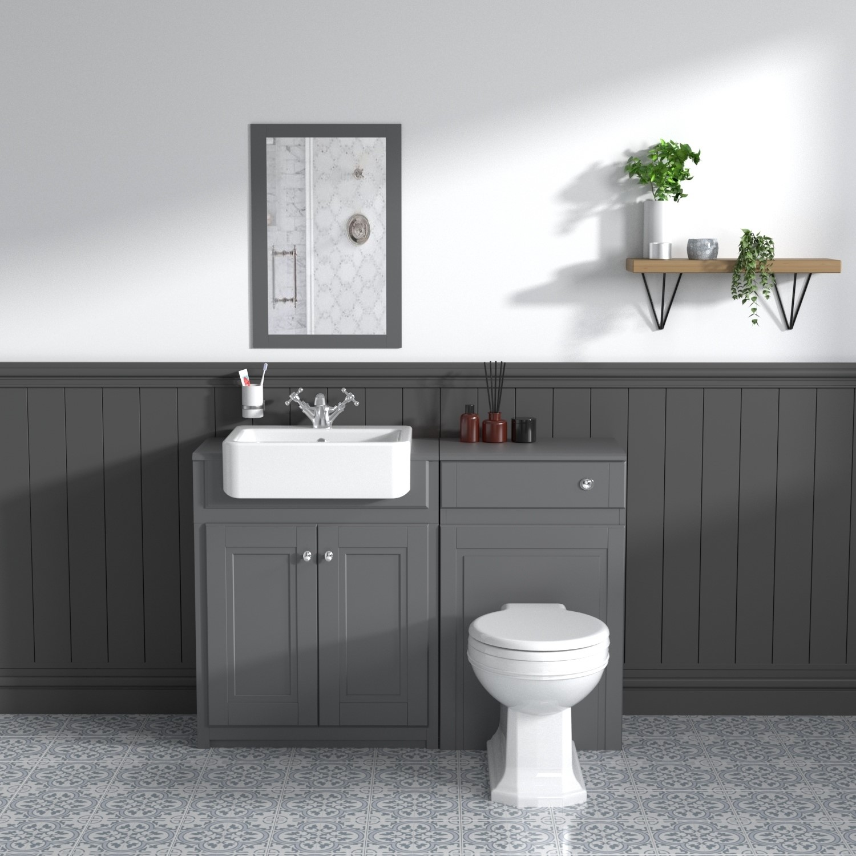 toilet and basin combination unit 2 door grey traditional westbury