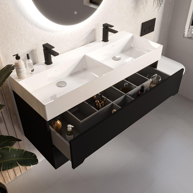 https www betterbathrooms com p 1200mm matt black wall hung basin vanity unit morella bunbeba 2720678099