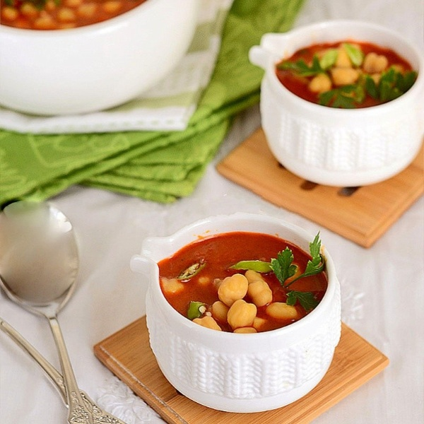 Traditional Moroccan Chickpea Soup