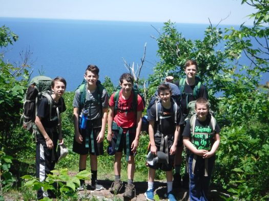 Camp Timberlane the boys back packing & hiking
