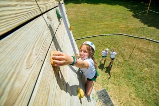 Camp Schodack rock climbing bouldering wall