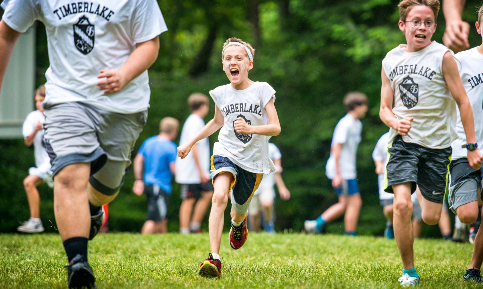 boys running at camp timberlake image