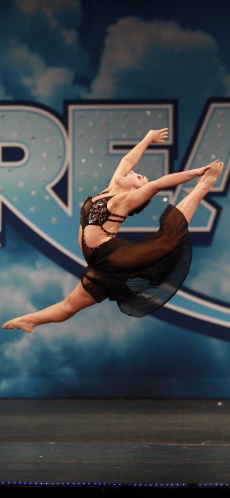 Dancer leaping in the air