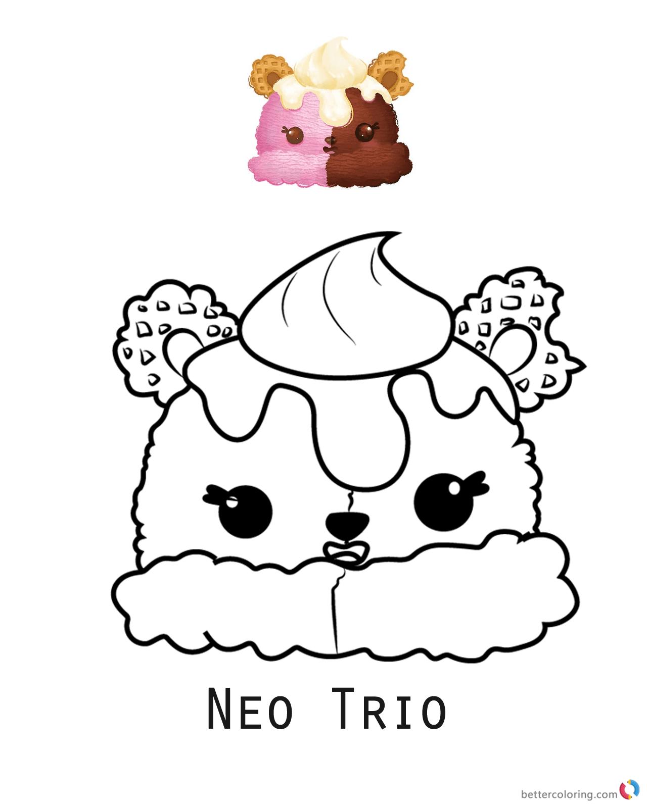Num Noms Coloring Pages Neo Trio