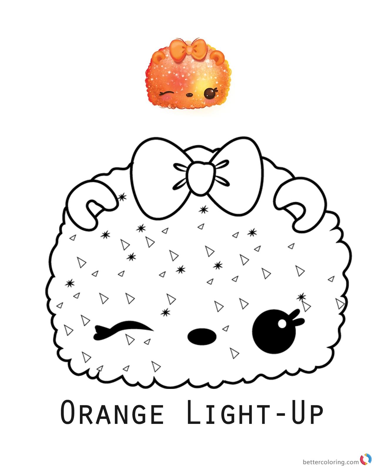 Num Noms Coloring Pages Orange Light Up