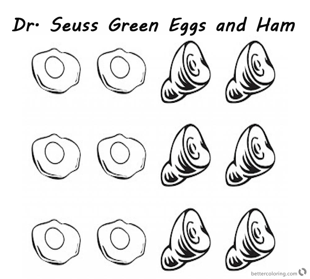Green Eggs And Ham Coloring Pages Free Coloring Pages Download ...