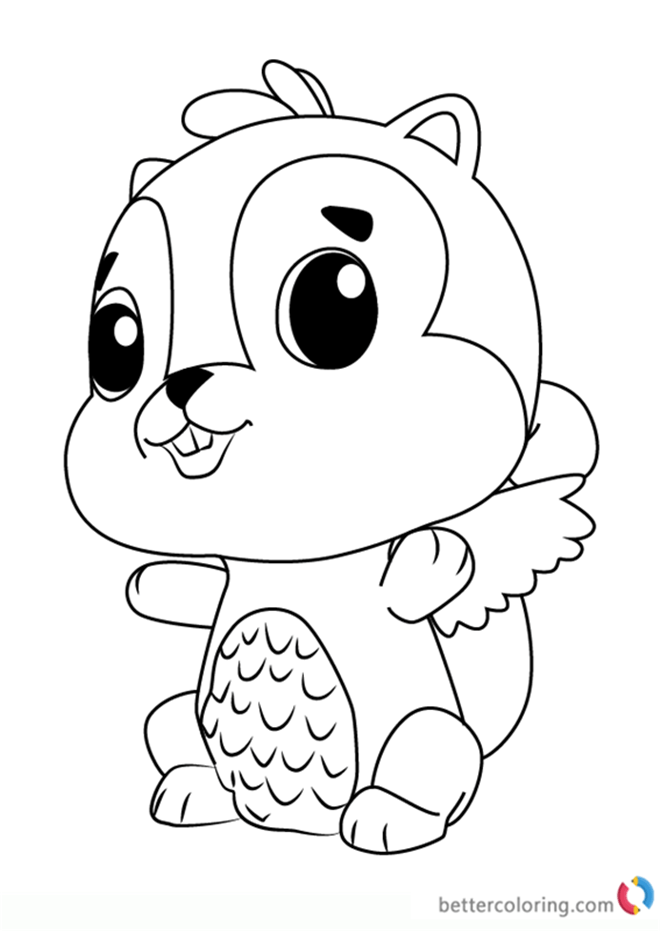 Chipadee From Hatchimals Coloring Pages Free Printable