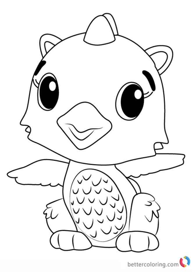 Polar Draggle From Hatchimals Coloring Pages Free