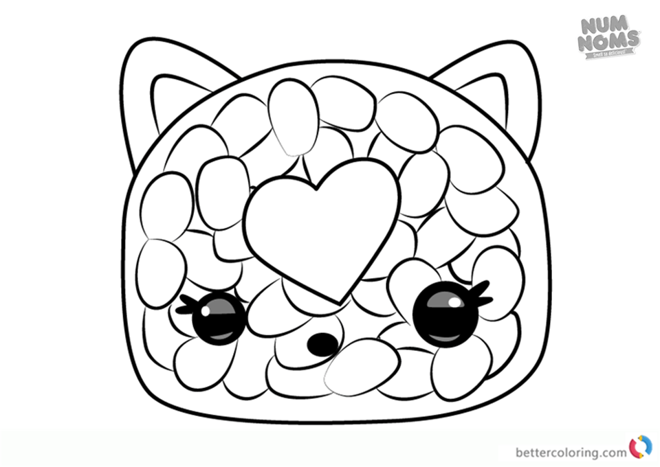 Num Noms Coloring Pages Series 2 Phili Roll Free