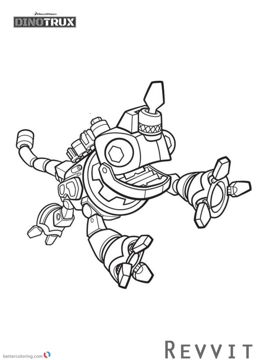 dinotrux coloring pages revvit is jumpping  free