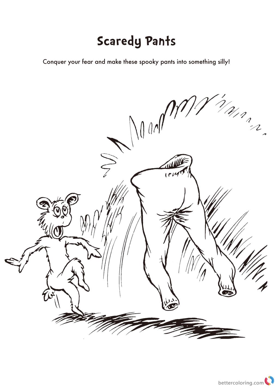 Dr Seuss Coloring Pages Scaredy Pants