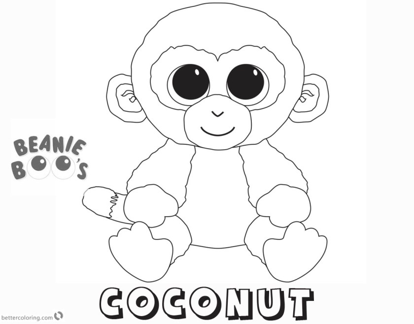 beanie boo coloring pages coconut  free printable