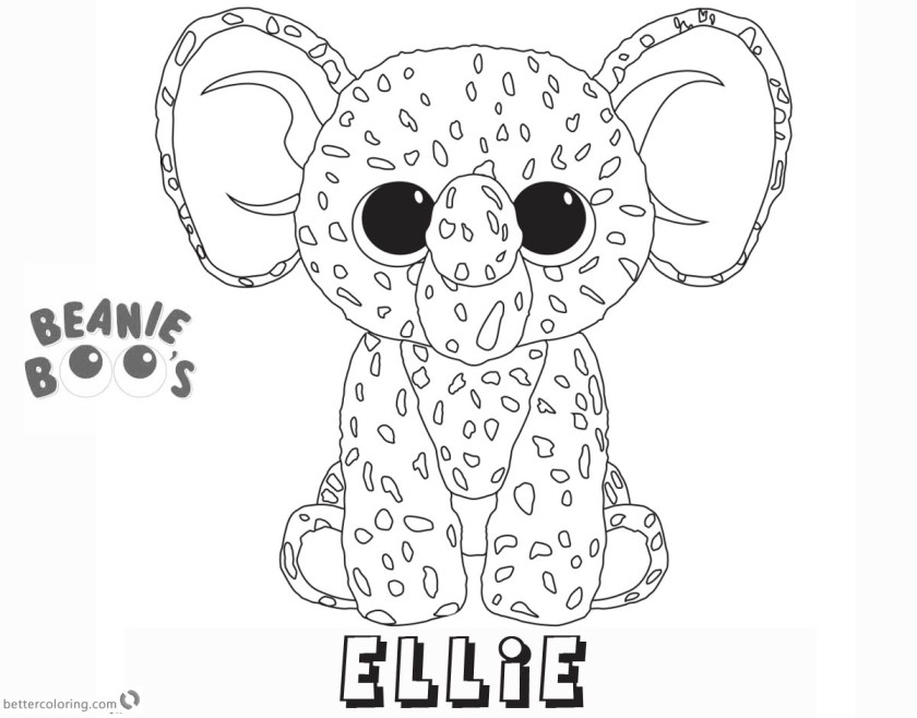 beanie boo coloring pages ellie  free printable coloring