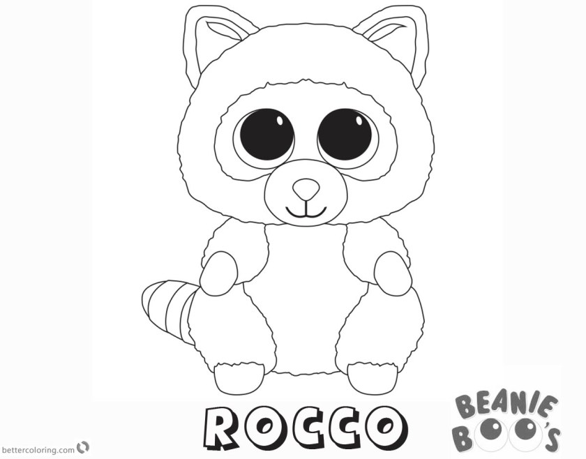 beanie boo coloring pages rocco  free printable coloring