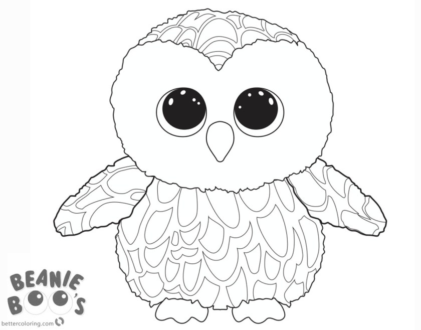 beanie boo owl coloring pages  free printable coloring pages