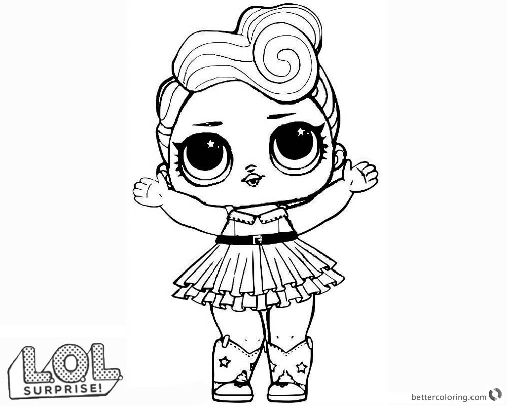 LOL Surprise Doll Coloring Pages LUXE Free Printable