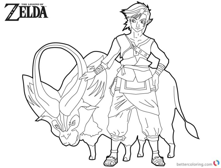 Ganon Coloring Pages Coloring Pages Kids 2019