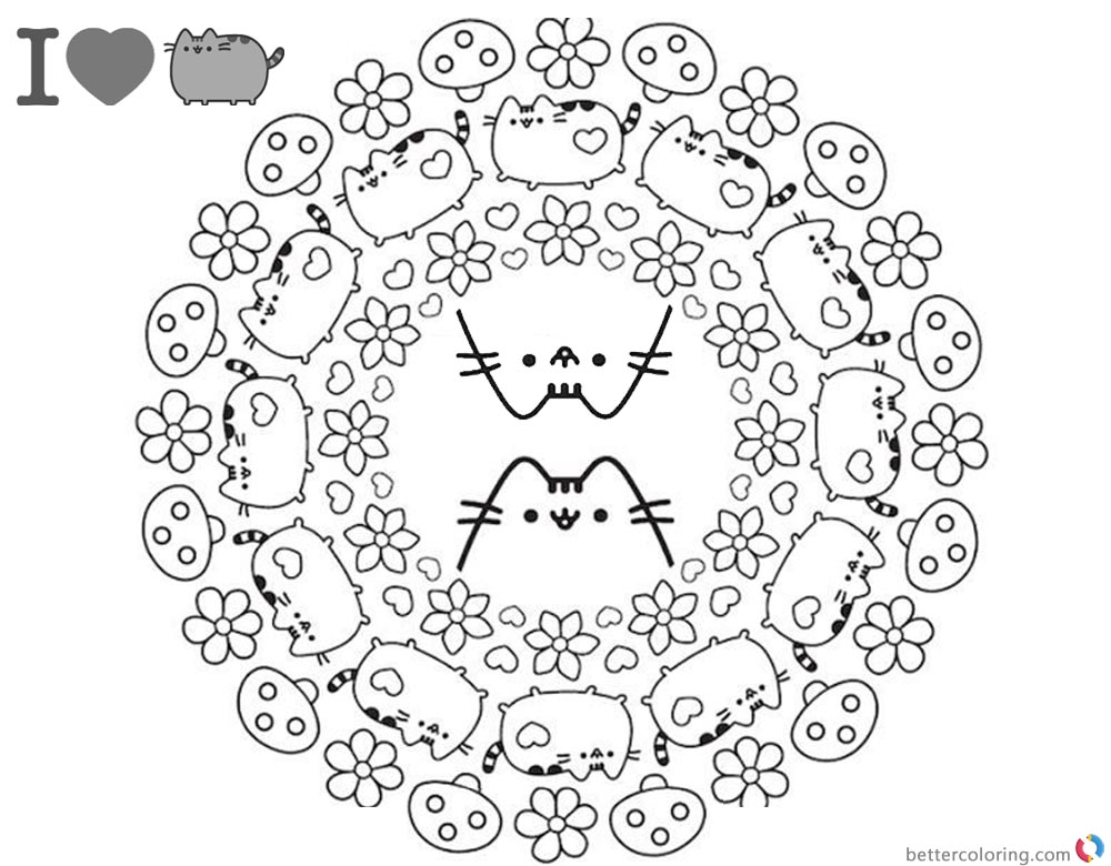 Pusheen Coloring Pages Coloring Book Cover Free