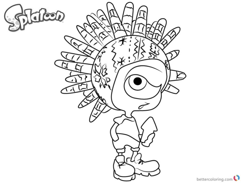 splatoon coloring pages murch from splatoon 2  free