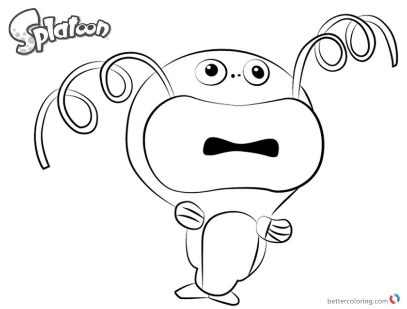 splatoon coloring pages zapfish drawing  free printable