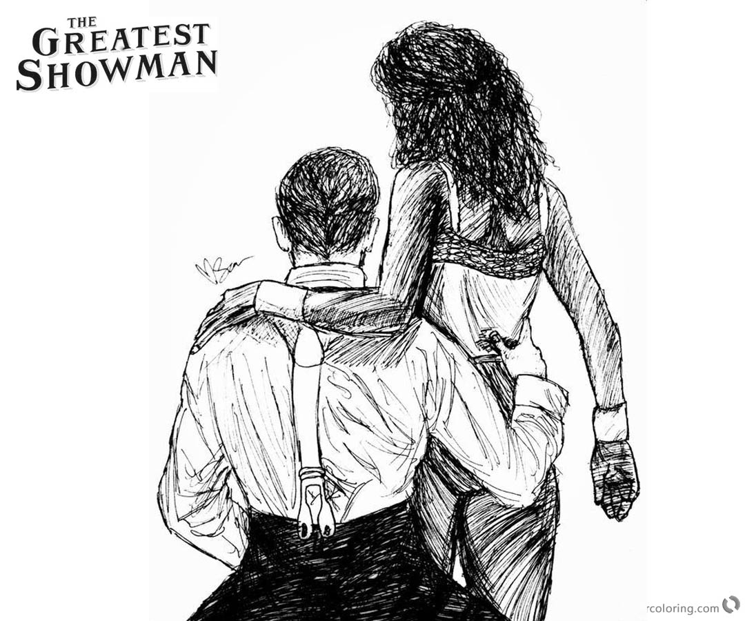 The Greatest Showman Printable Coloring Pages