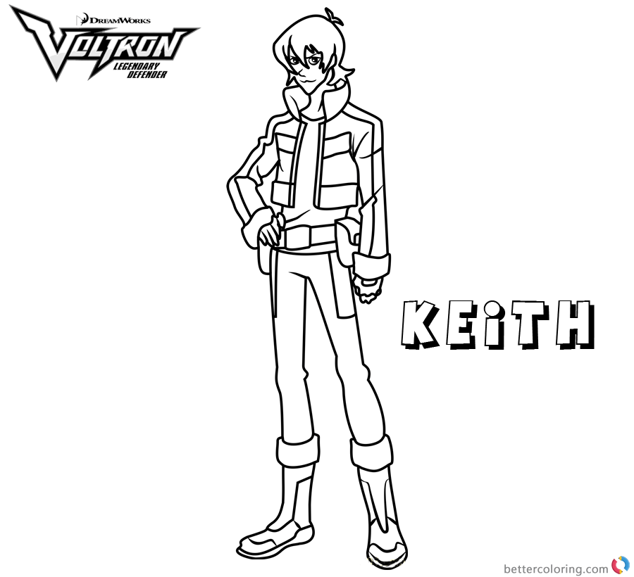 Voltron Coloring Pages Keith Free Printable Coloring Pages