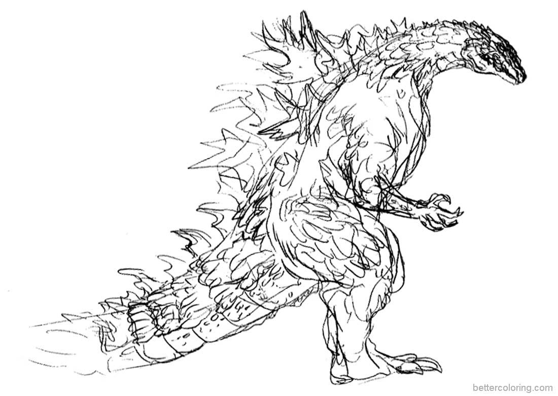 Godzilla Printable Coloring Pages