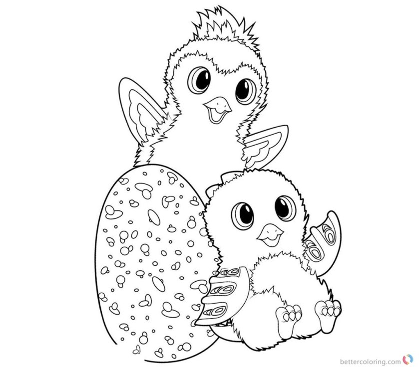 hatchimals coloring pages colleggtibles and penguala