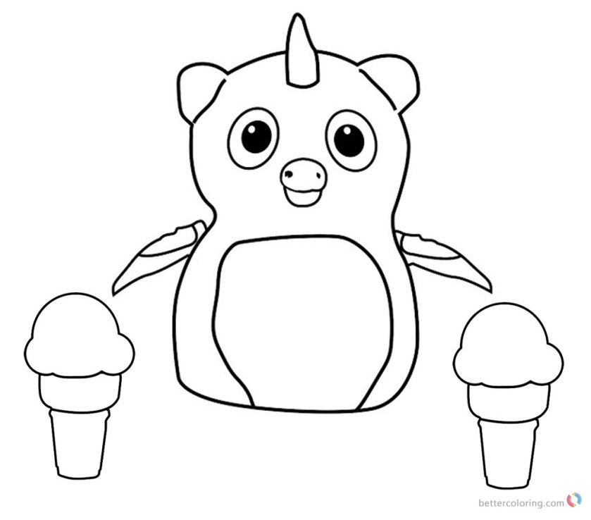 hatchimals coloring pages penguala  icecream  free