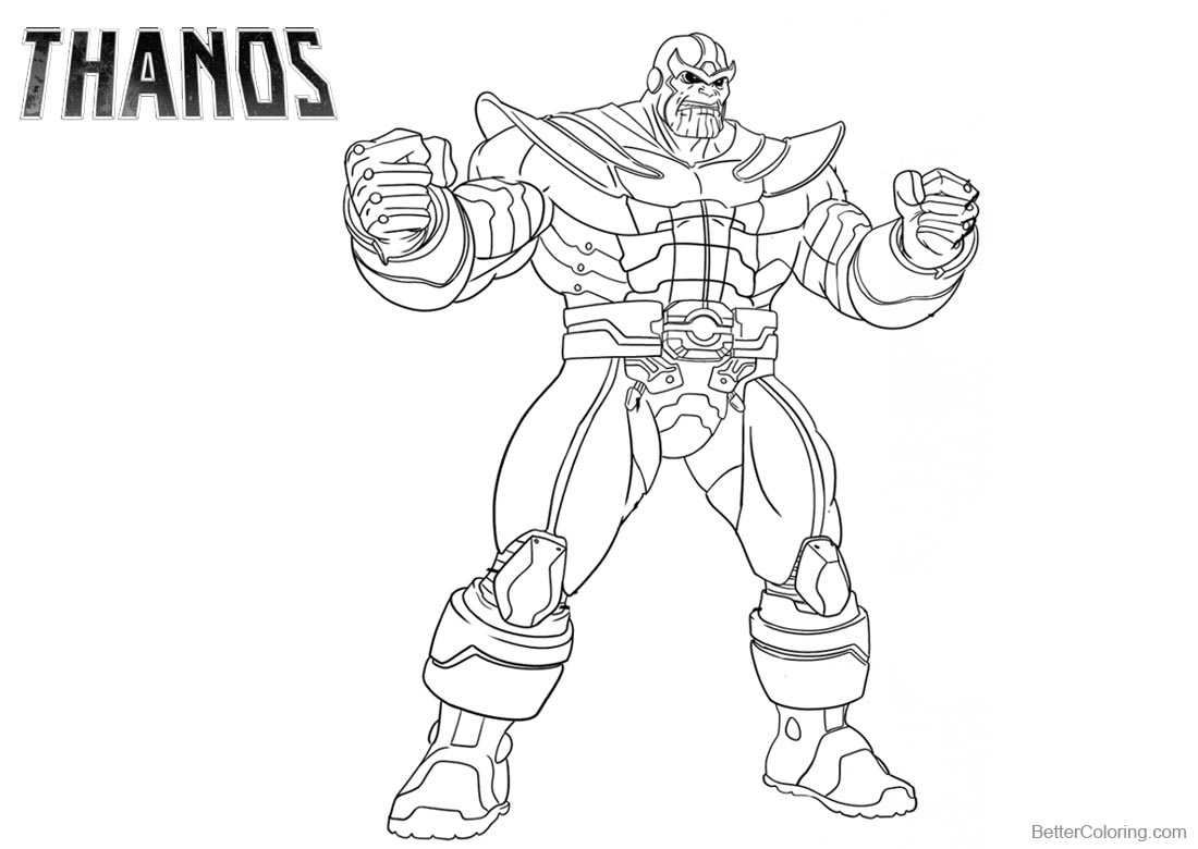 Fortnite Thanos Coloring Pages