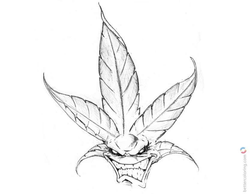 weed coloring pages embroidery trippy stoner drawings