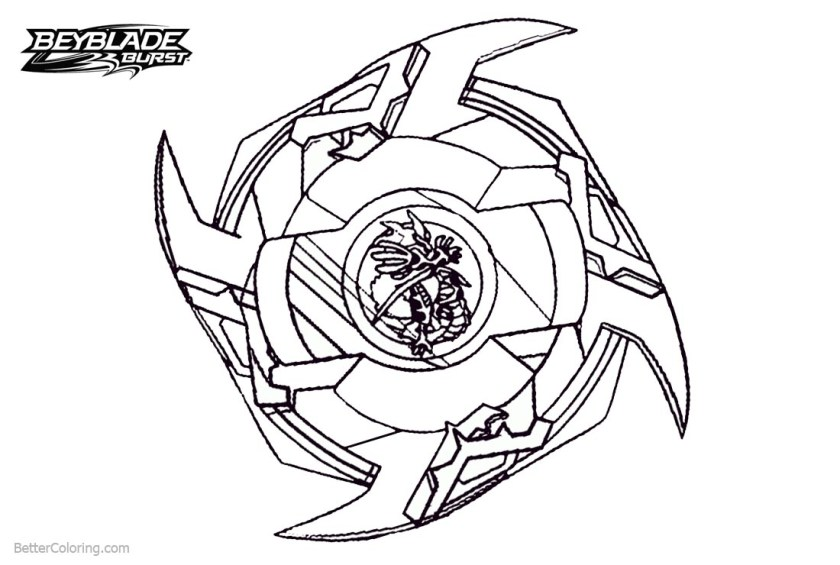 beyblade burst coloring pages powerful beyblade  free