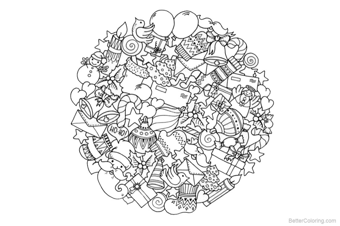 Christmas Mandala Coloring Pages Christmas Presents Free