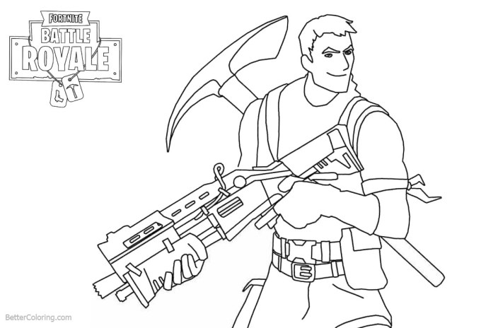 Fortnite Emotes Coloring Pages