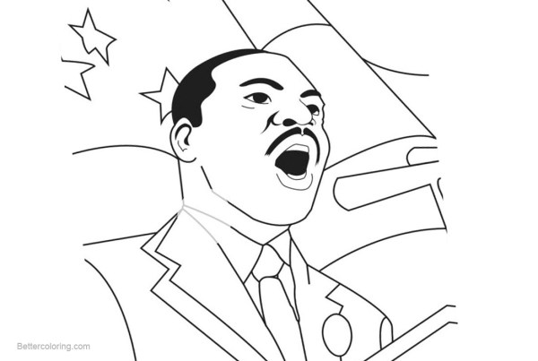 martin luther king coloring pages free # 40