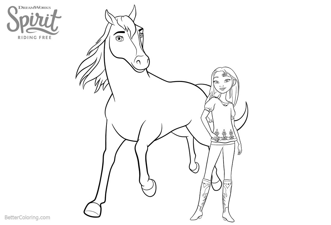 Riding Horse Coloring Pages