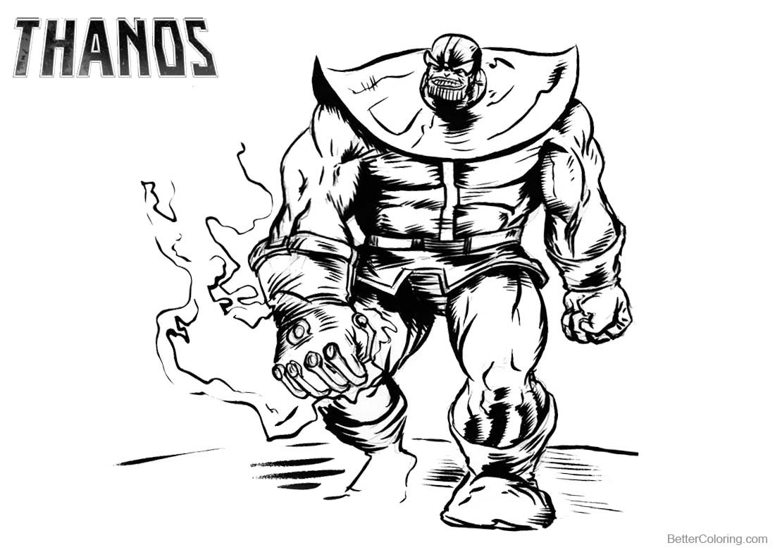 Thanos Coloring Pages Fanart